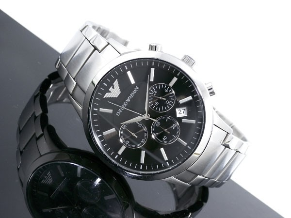 0b1a347f983 Relógio Emporio Armani Ar2434 Preto Original Completo - R  367