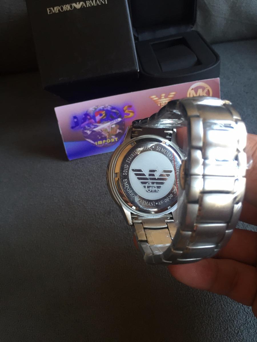 cb66822bb2d4b Relógio Emporio Armani Ar0636 Kaká Original Completo C caixa - R ...