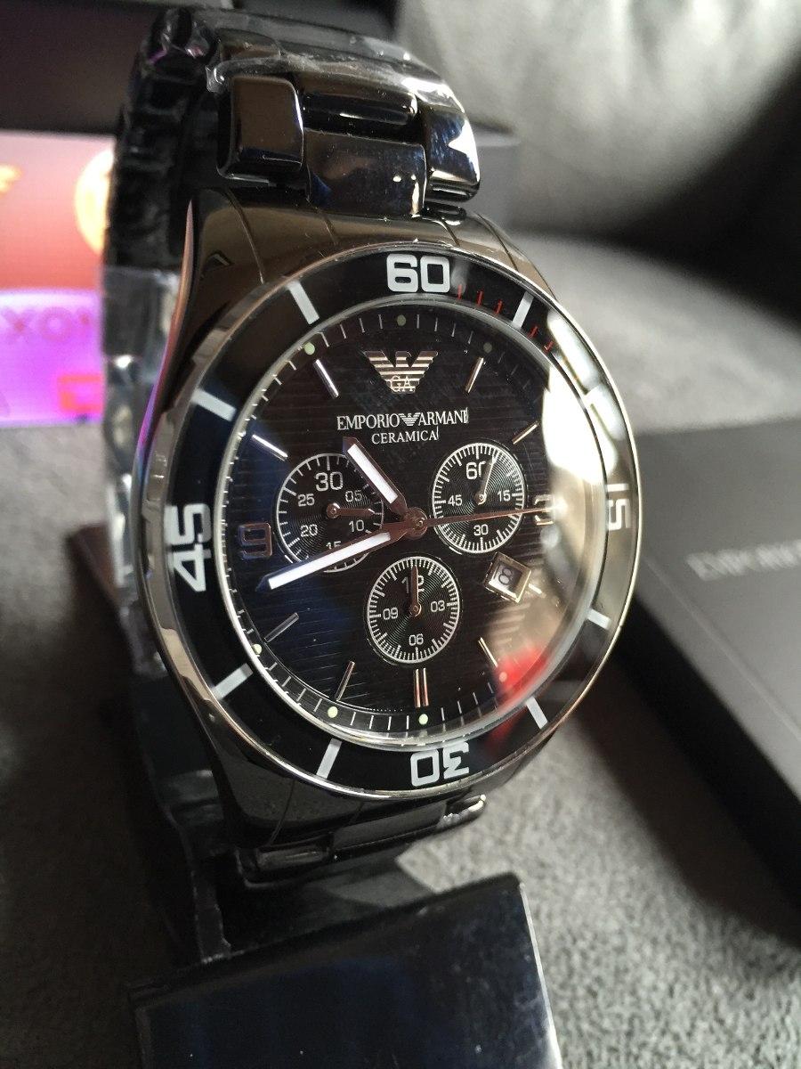 476fc8f5de1 relógio emporio armani ar1421 cerâmica preta 100% original. Carregando  zoom... relógio emporio armani. Carregando zoom.