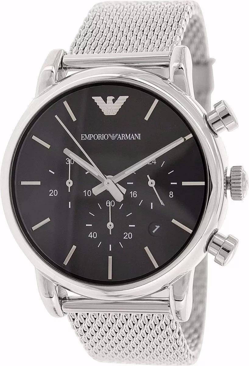 5b2d8bd5554 Relógio Emporio Armani Ar1811 Aço Escovado Top Com Caixa - R  419