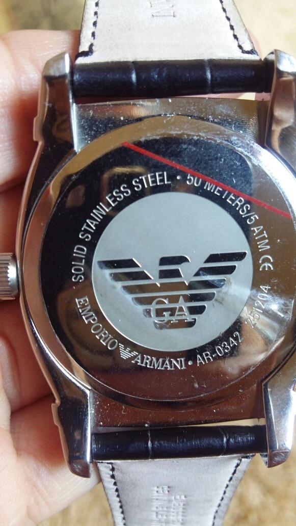 Relogio Emporio Armani Ar 0342 Original Com Pelicula - R  400 6da67ba02e7a7