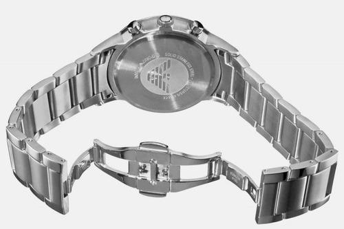 6630b32a2e8 Relógio Emporio Armani Aço Escovado Ar2448 Original C brinde - R ...