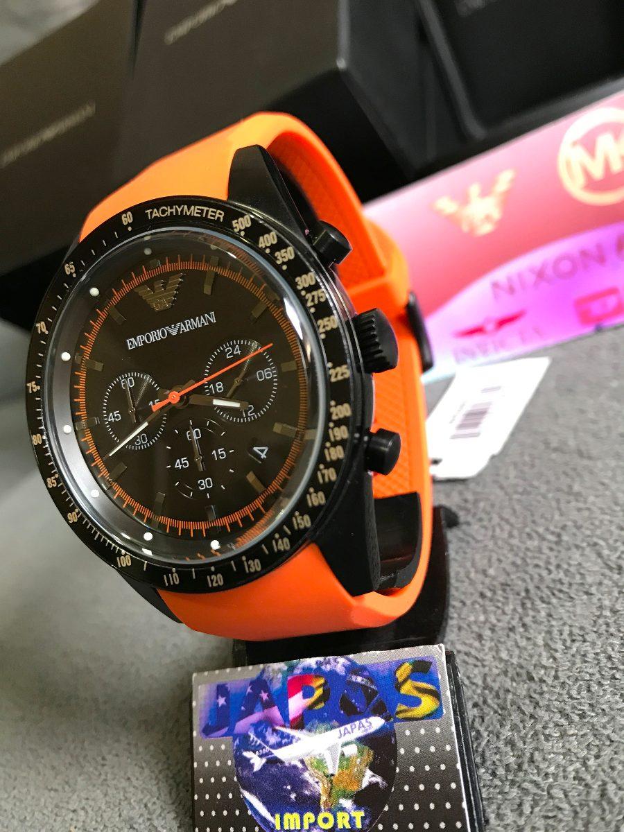 6e51837b46c Relógio Empório Armani Ar5987 Laranja Original 12x S  Juros - R  449 ...