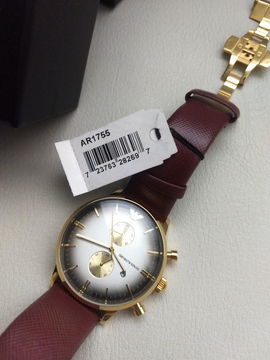 00e2a39fe69 Relógio Empório Armani - Pulseira Em Couro - R  170