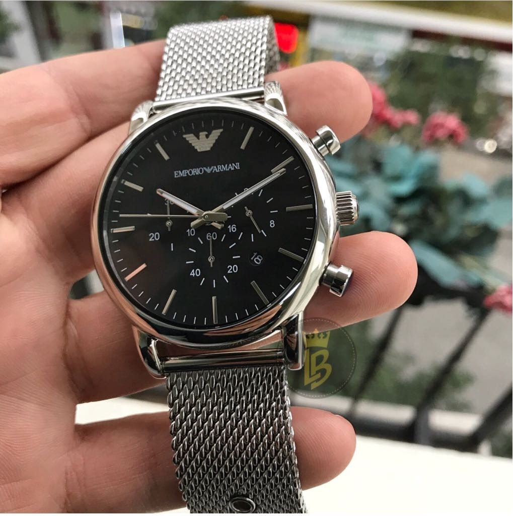 6dcd06f1ae2 Relógio Empório Armani Ar1808 Prata  Preto Promoção C  Caixa - R ...