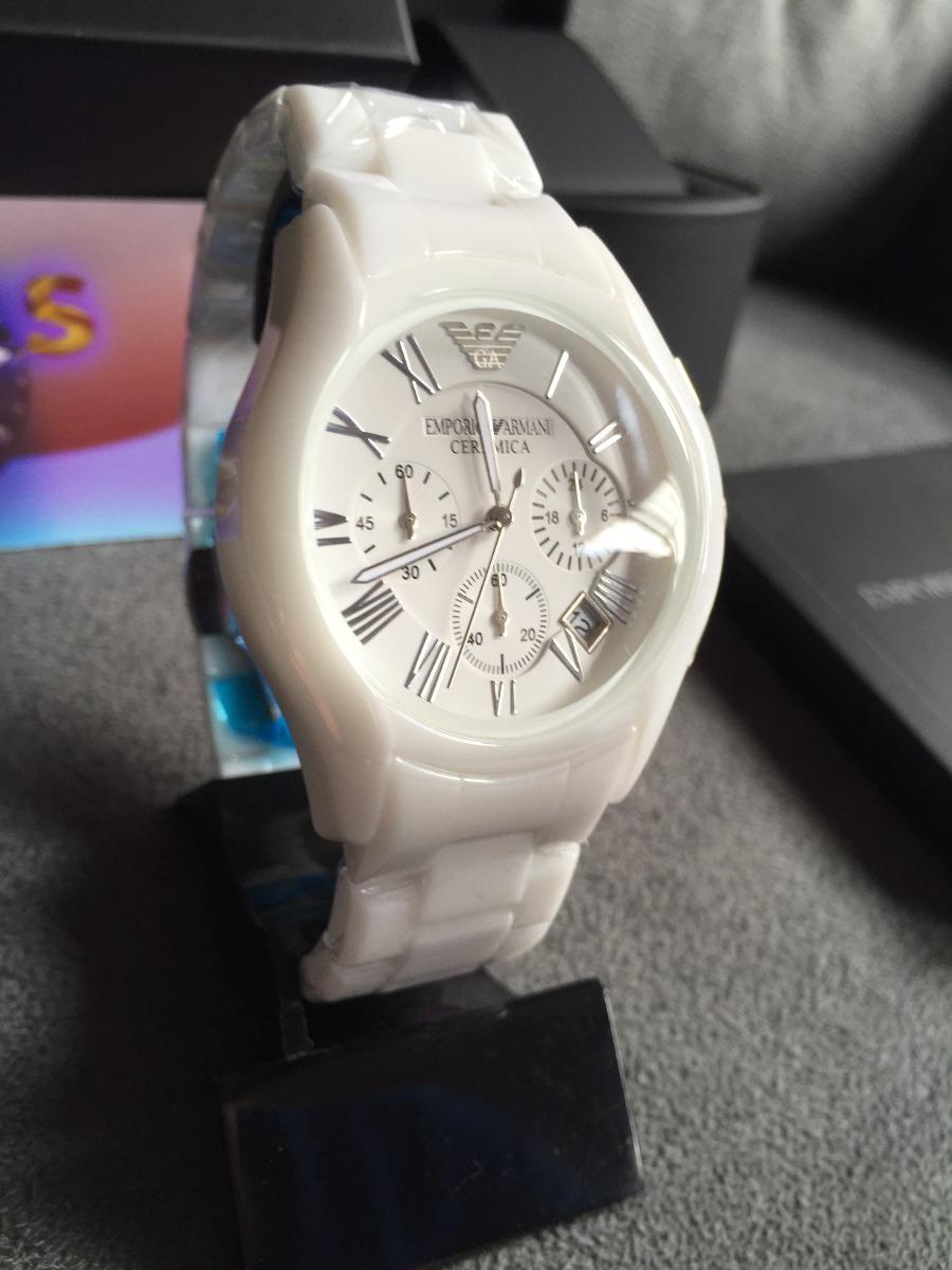 e57a1608a3e Relógio Emporio Armani Ar1403 Cerâmica Branco Original - R  569