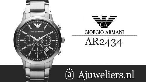 b6bc9c4869f relogio emporio armani ar2434 prata preto original c2267 · relogio emporio  armani