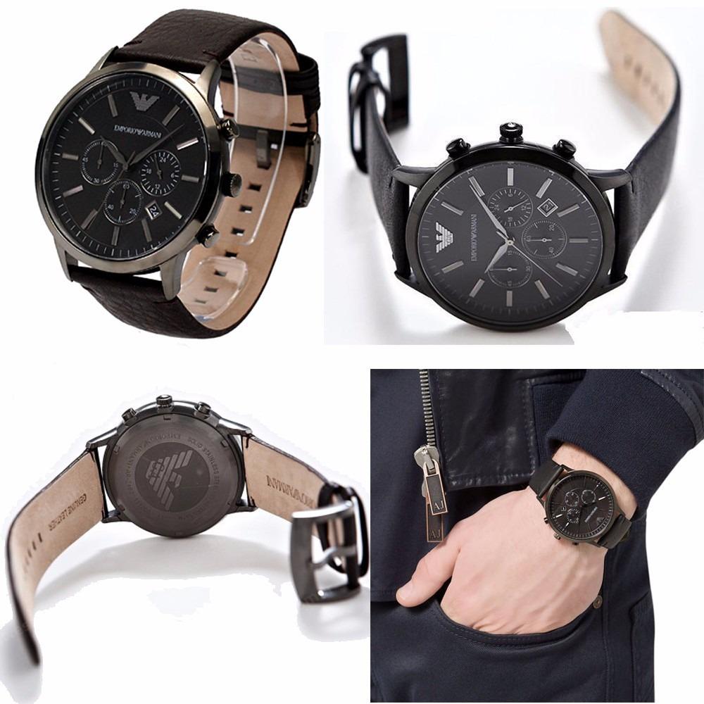 11d01ef9e78 relógio emporio armani ar2462 couro marrom na caixa em 12x. Carregando  zoom... relógio emporio armani. Carregando zoom.