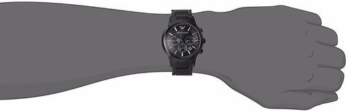 f46731da226 Carregando zoom... relógio emporio armani ar2453 preto original garantia 3  anos · relógio emporio armani