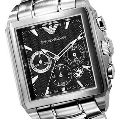 137ff5e2479 Relógio Emporio Armani Ar0659 Original Preto Com Caixa - R  448
