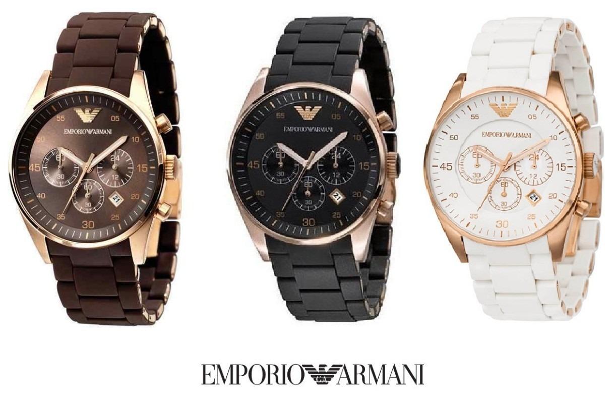 fd6c0a9333a Relógio Fr4 Empório Armani Ar5919 Ar5905 Ar5890 Completo - R  346
