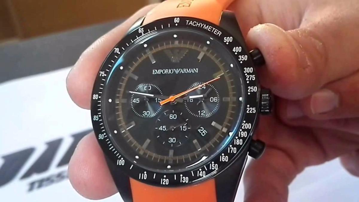 99198a3c34353 Relogio Emporio Armani Ar5987 Preto laranja Original Fretebr - R ...
