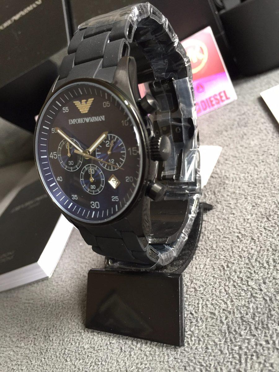 e71a0e79b79 Relógio Empório Armani Ar5921 Preto Original 12x Sem Juros - R  449 ...