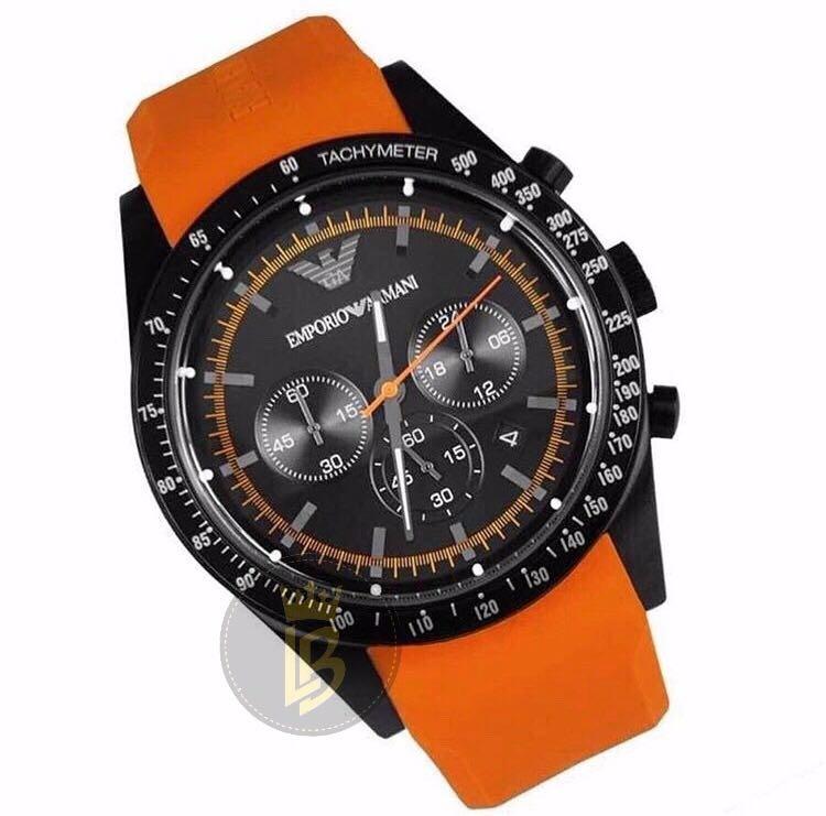 f72c92196cc relógio emporio armani ar5987 laranja original completo · relógio emporio  armani