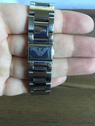 relógio empório armani ar-0050 original