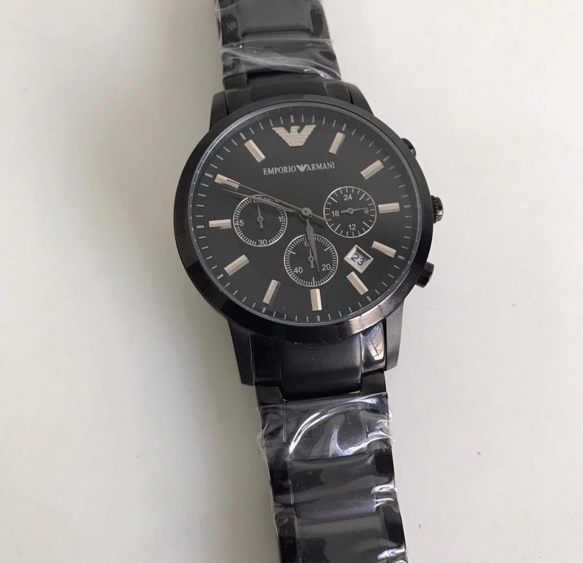 109fbac3013 relógio emporio armani ar-2455 preto. Carregando zoom.