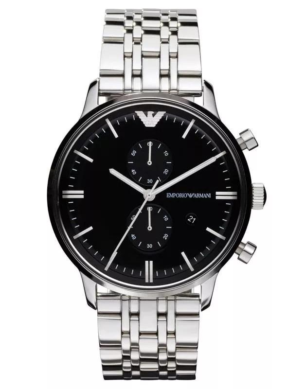 764ea35b960 relógio emporio armani ar0389 prata e preto w179 com caixa. Carregando zoom.