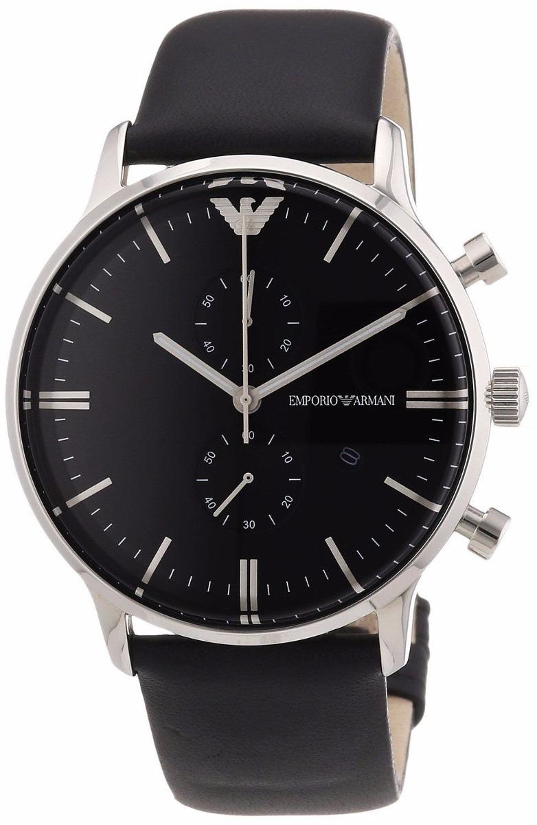 f1b9f031093 relógio emporio armani ar0397 original masculino couro preto. Carregando  zoom.