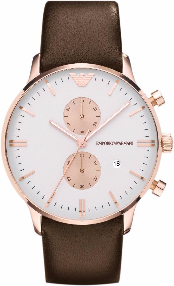 da0f9672b8c relógio emporio armani ar0398 clássico original couro marrom. Carregando  zoom.
