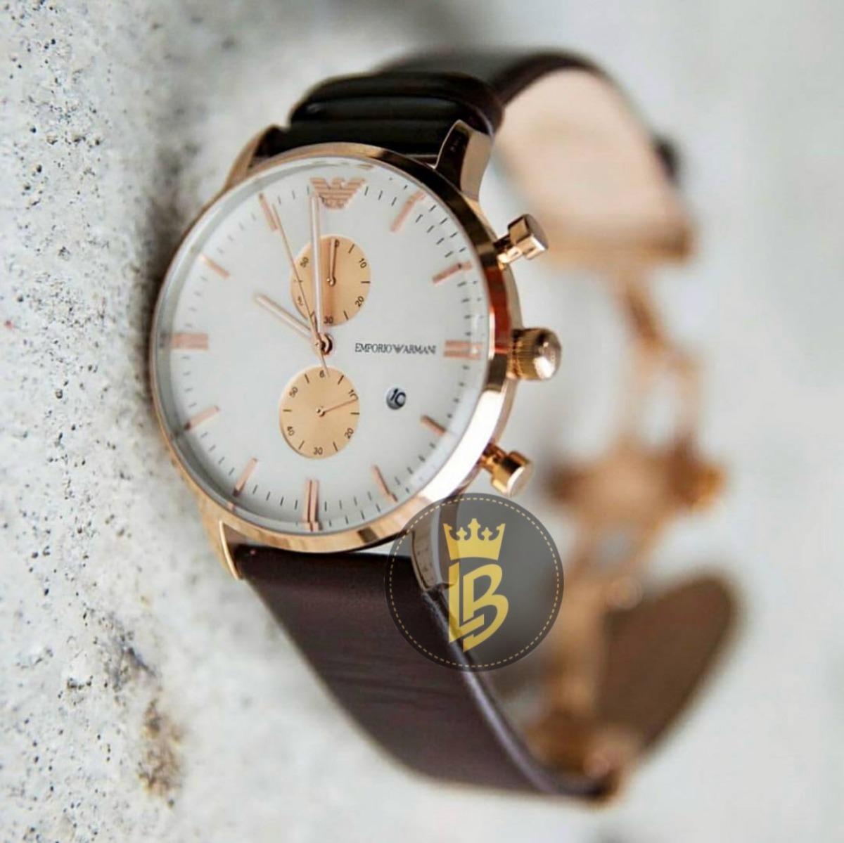 c5e6ac1c20d0f relógio empório armani ar0398 foto e vídeo real do produto. Carregando zoom.