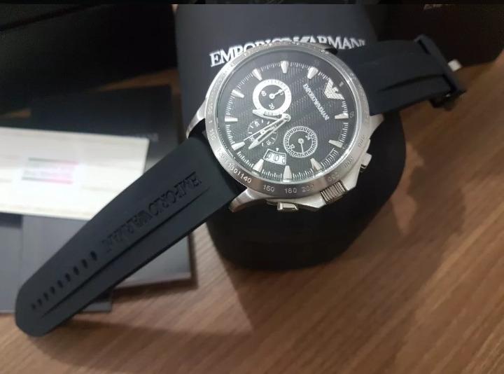 303e247cbbe Relógio Empório Armani Ar0636 Completo Na Caixa - R  349
