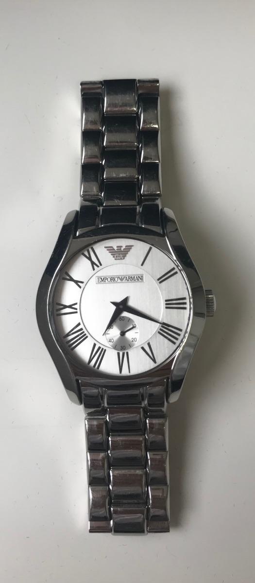 Relógio Empório Armani Ar0647 Unisex Usado - R  150,00 em Mercado Livre b1d3b3fa7a