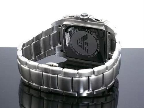 f44a18e1427 Relógio Emporio Armani Ar0660 Azul Quadrado C844 - R  435