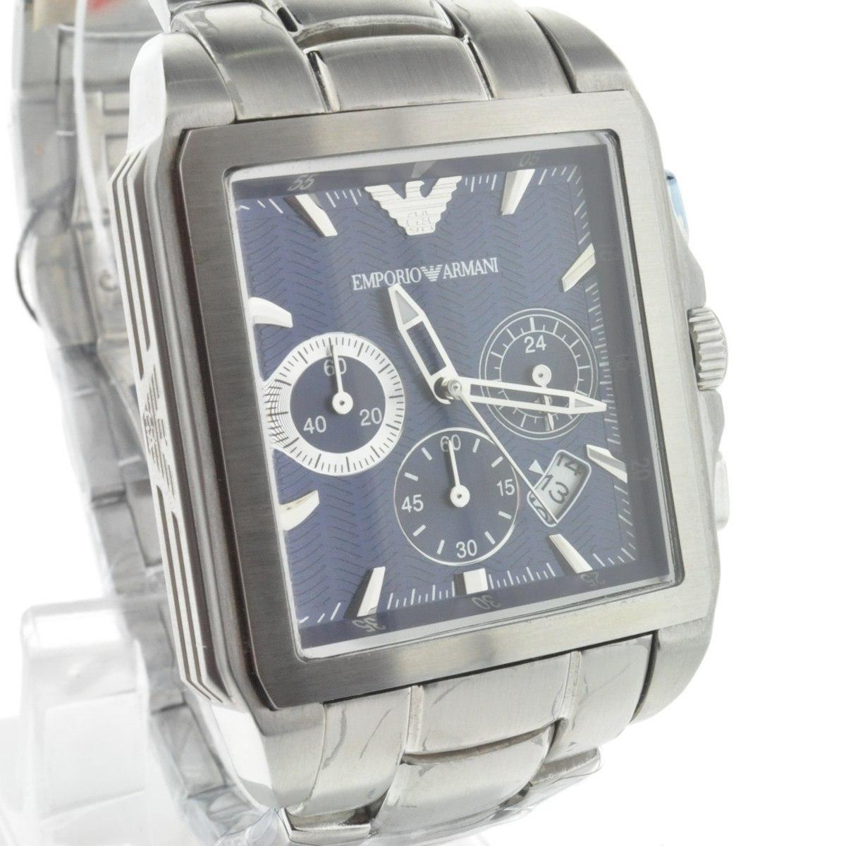 a1b730e1052 relógio emporio armani ar0660 original azul quadrado kaka. Carregando zoom.