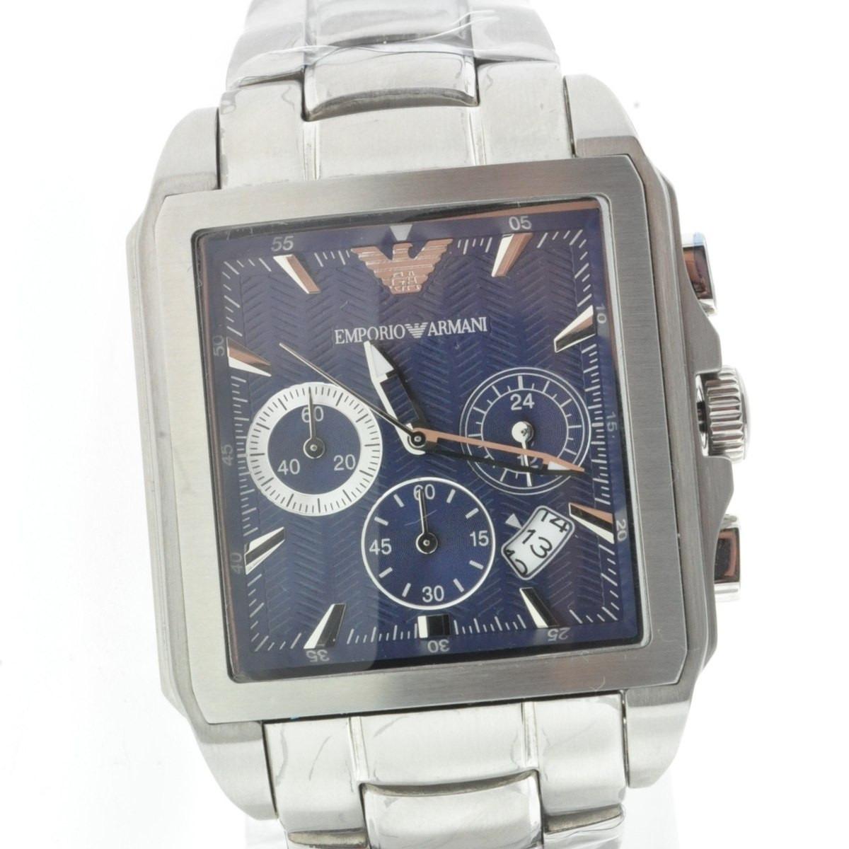 ac6275ae8d7 relógio emporio armani ar0660 original azul quadrado top. Carregando zoom.