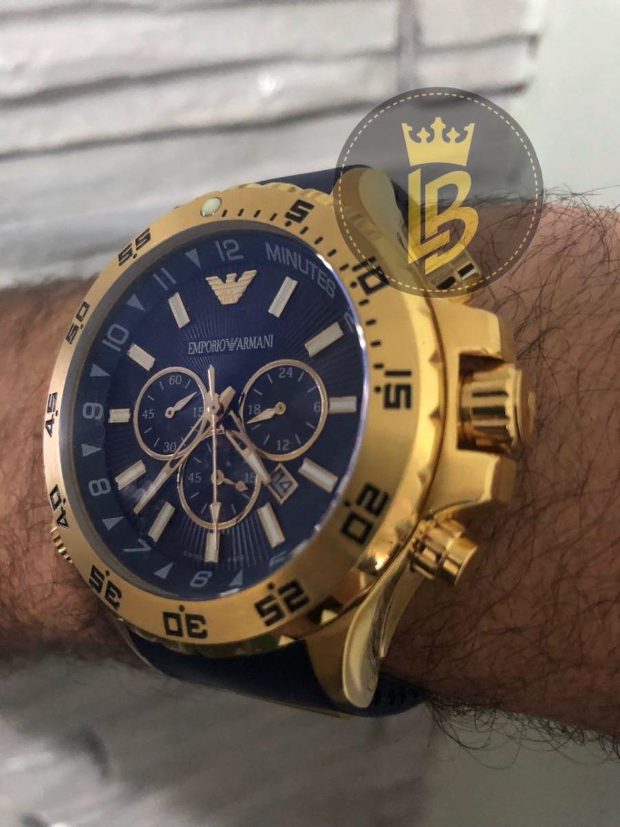 19cf6ad487c relógio empório armani ar0690 azul original com garantia. Carregando zoom.