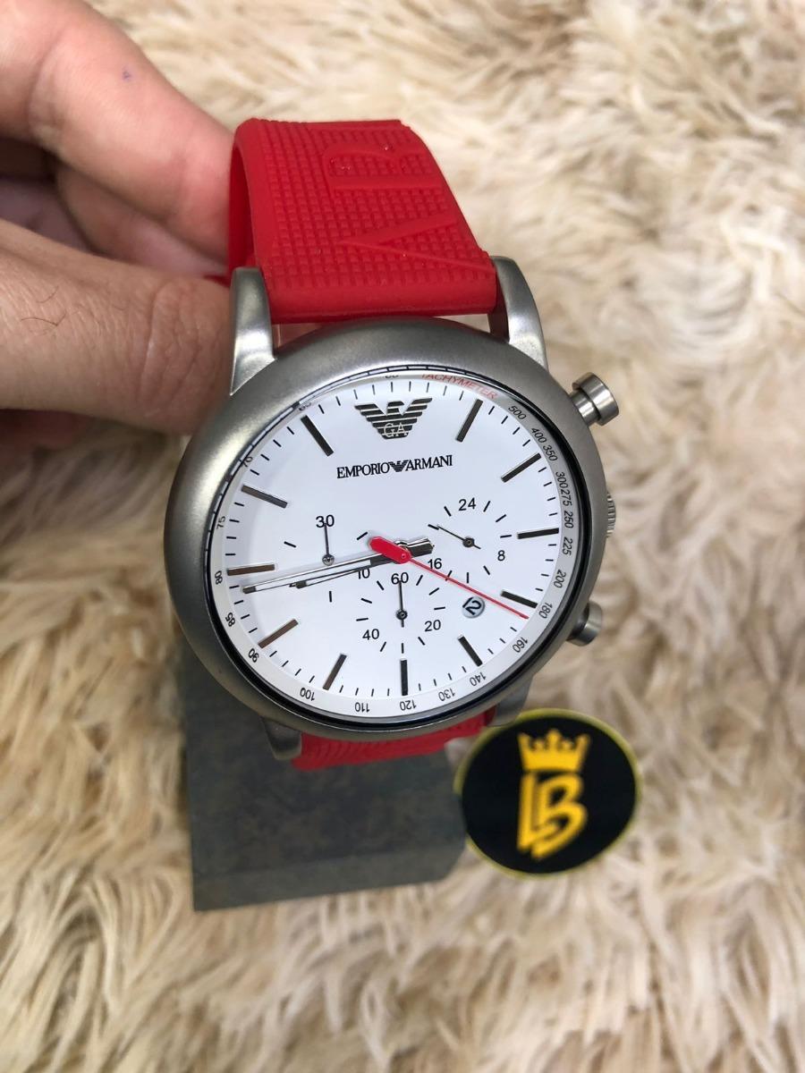 relógio emporio armani ar11021 vermelho, foto real, original. Carregando  zoom. 3ee1c57f7b