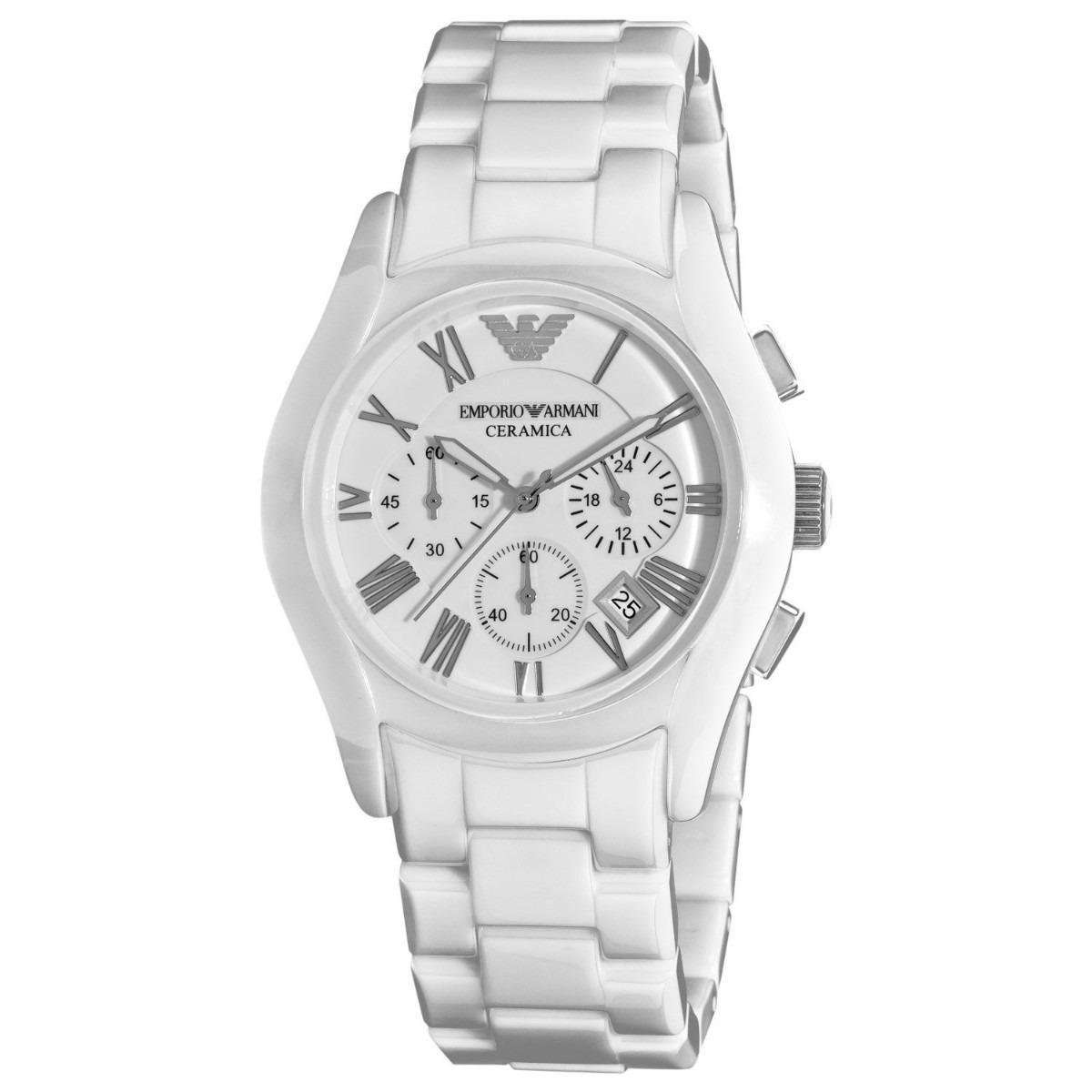 2e27e7a1577 Relógio Emporio Armani Ar1403 Cerâmica Na Caixa Frete Grátis - R  466