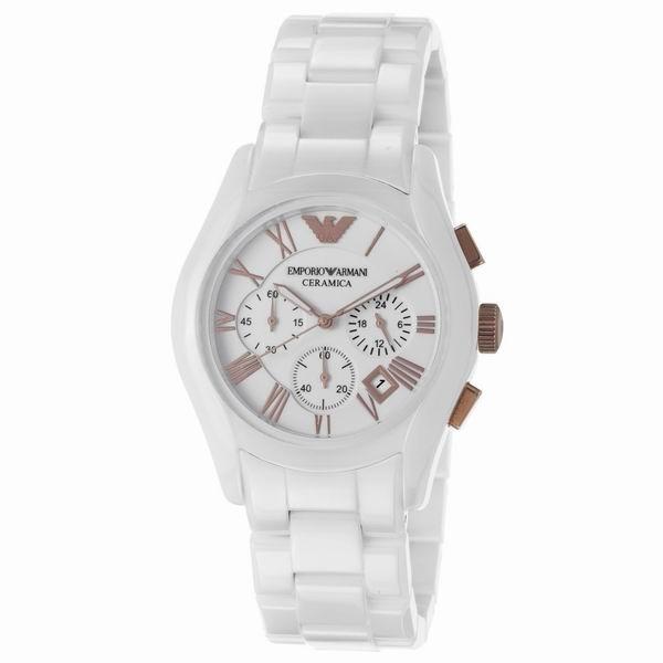05a4ad46e84 Relógio Emporio Armani Ar1416 Cerâmica Branco rose Na Caixa. - R ...