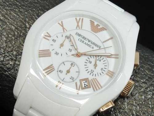 fc4c2ac3dce Relógio Emporio Armani Ar1416 Cerâmica Branco rose P.entrega - R ...