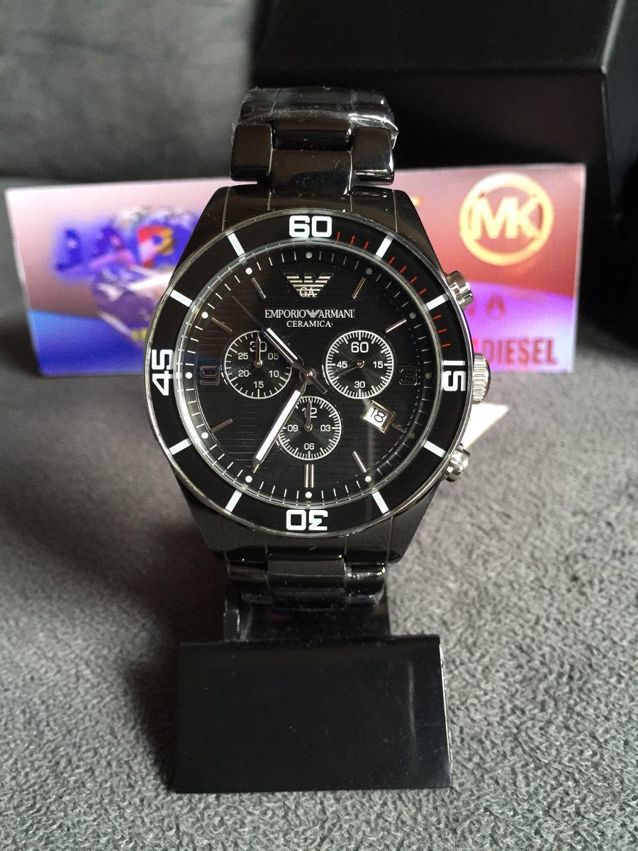 431408318f2 relógio emporio armani ar1421 cerâmica preta 100% original. Carregando zoom.