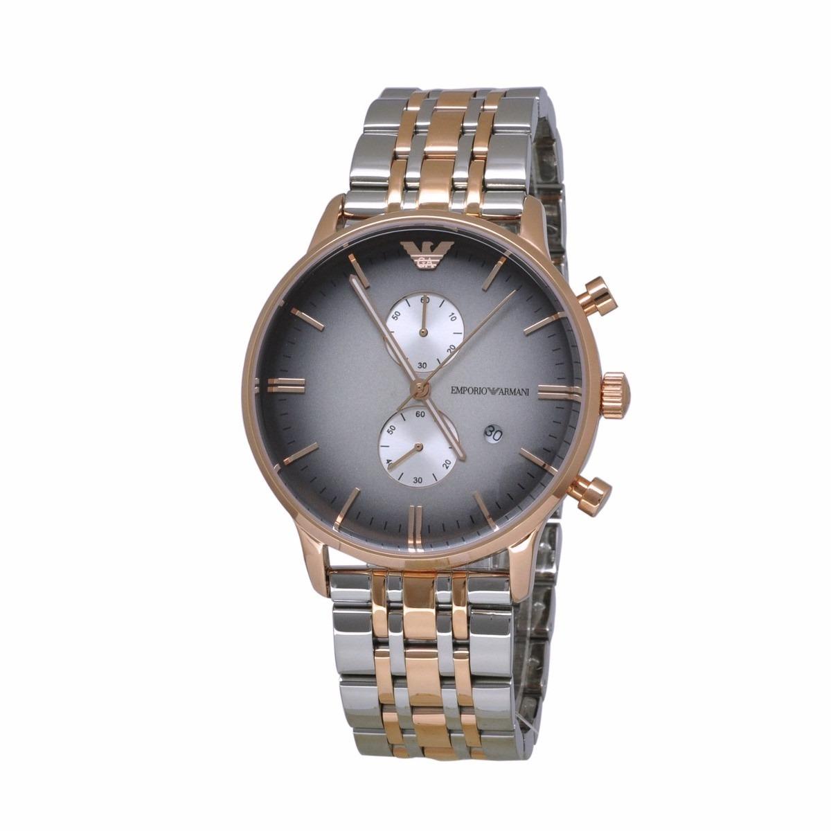 74ee6cbc9a5 relógio emporio armani ar1721 rose prata original completo. Carregando zoom.