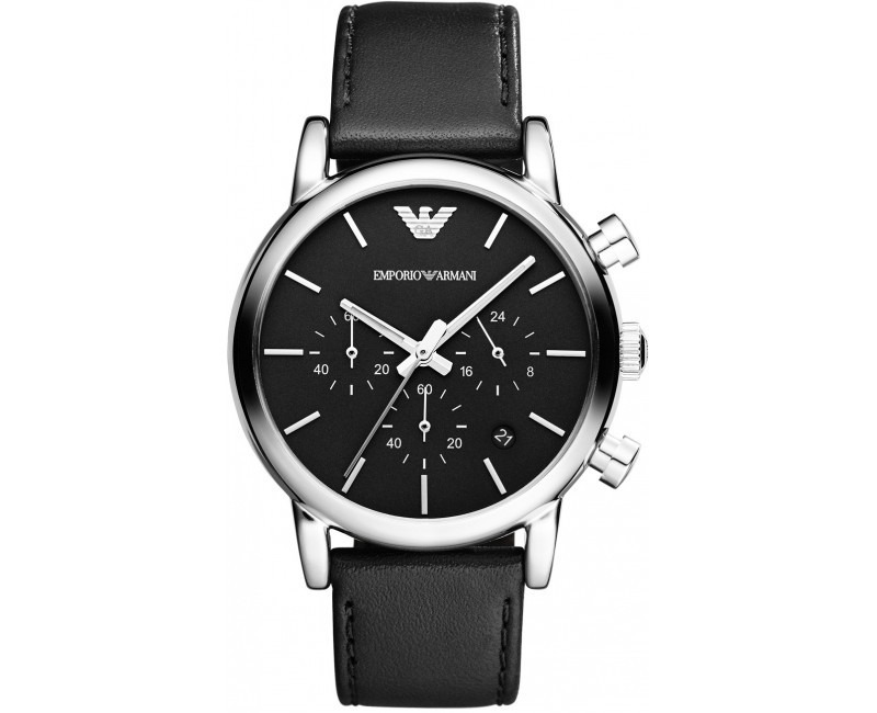 6870fc9f596 relogio emporio armani ar1733 pulseira couro preto original. Carregando  zoom.