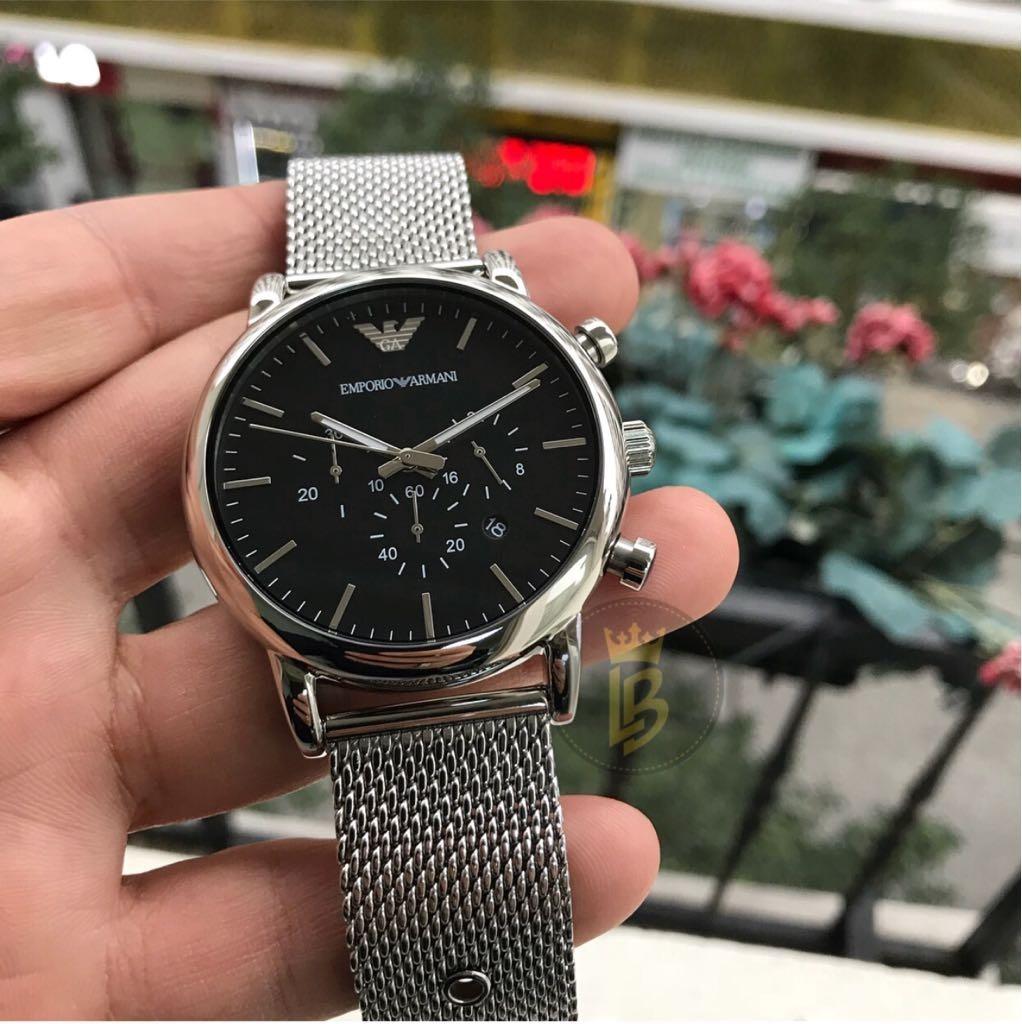 459a22b979e relógio empório armani ar1808 prata  preto promoção c  caixa. Carregando  zoom.