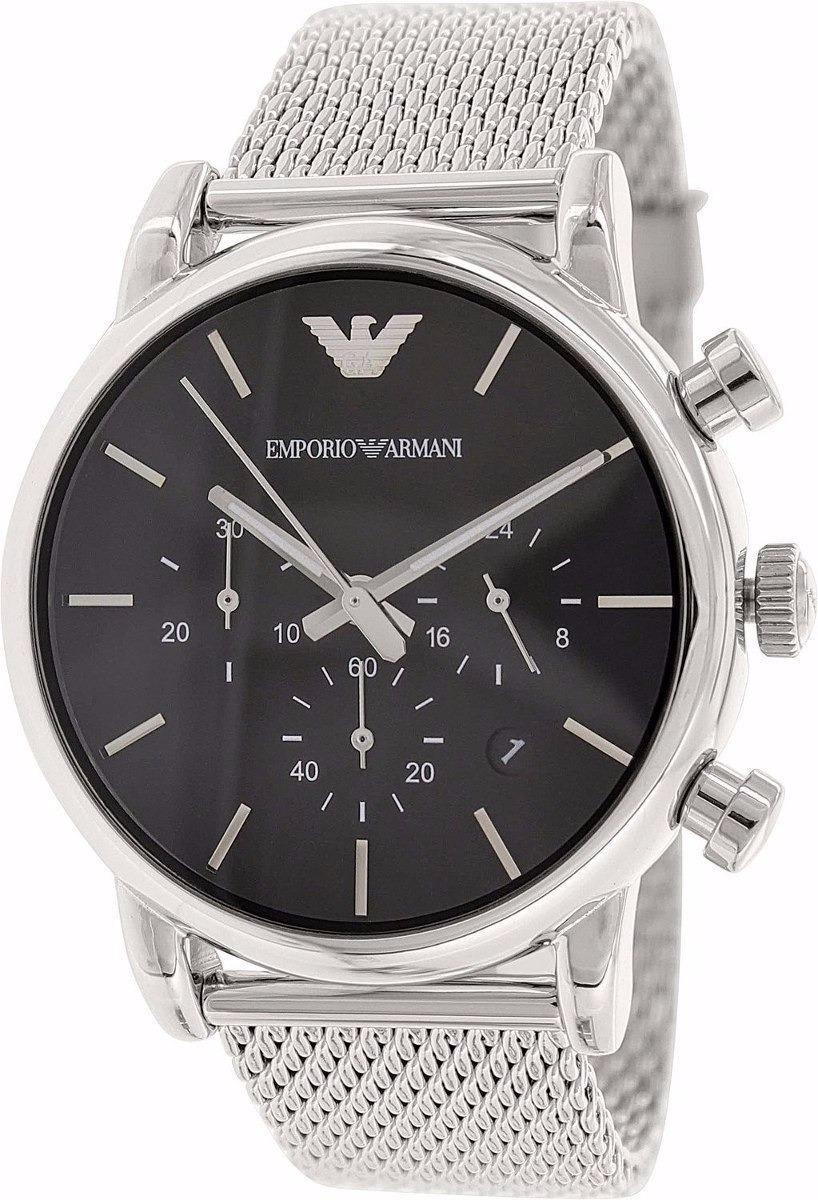 f26819dbf3e relógio emporio armani ar1811 aço escovado original garantia. Carregando  zoom.
