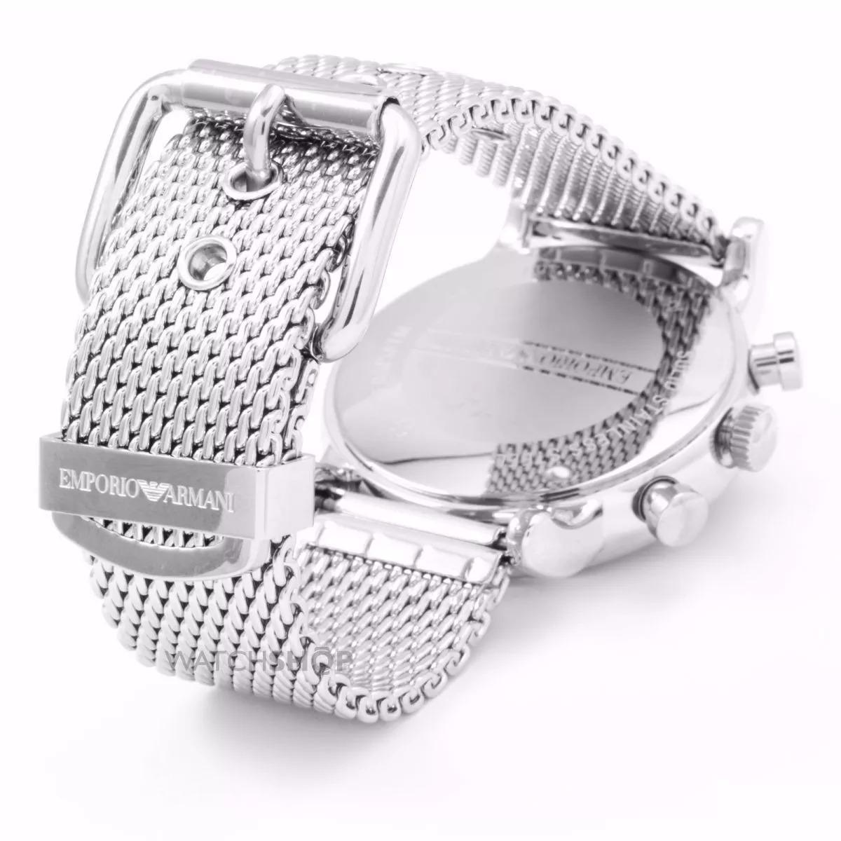 30d546fe326 relógio emporio armani ar1811 aço escovado top com caixa. Carregando zoom.