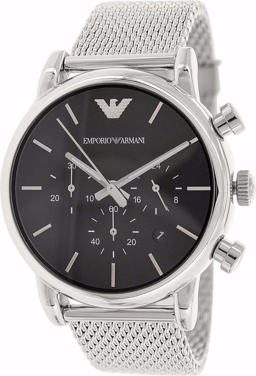 1b0656a31bb relógio emporio armani ar1811 masculino aço escovado. Carregando zoom.