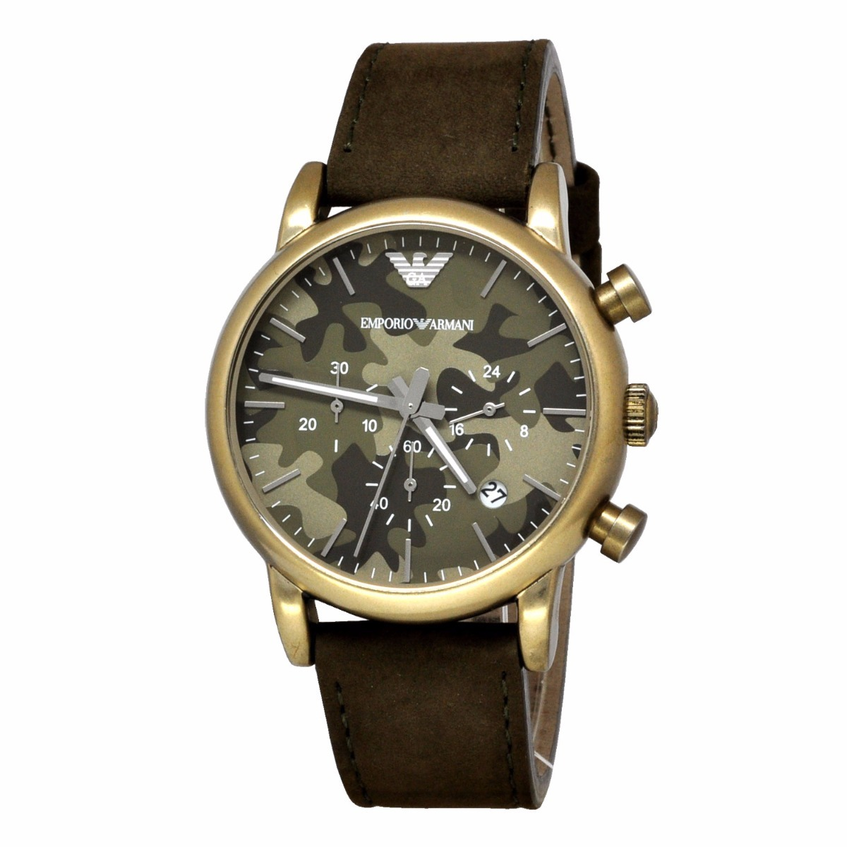 297fd4abfb7 relógio emporio armani ar1818 verde marrom s  caixa. Carregando zoom.