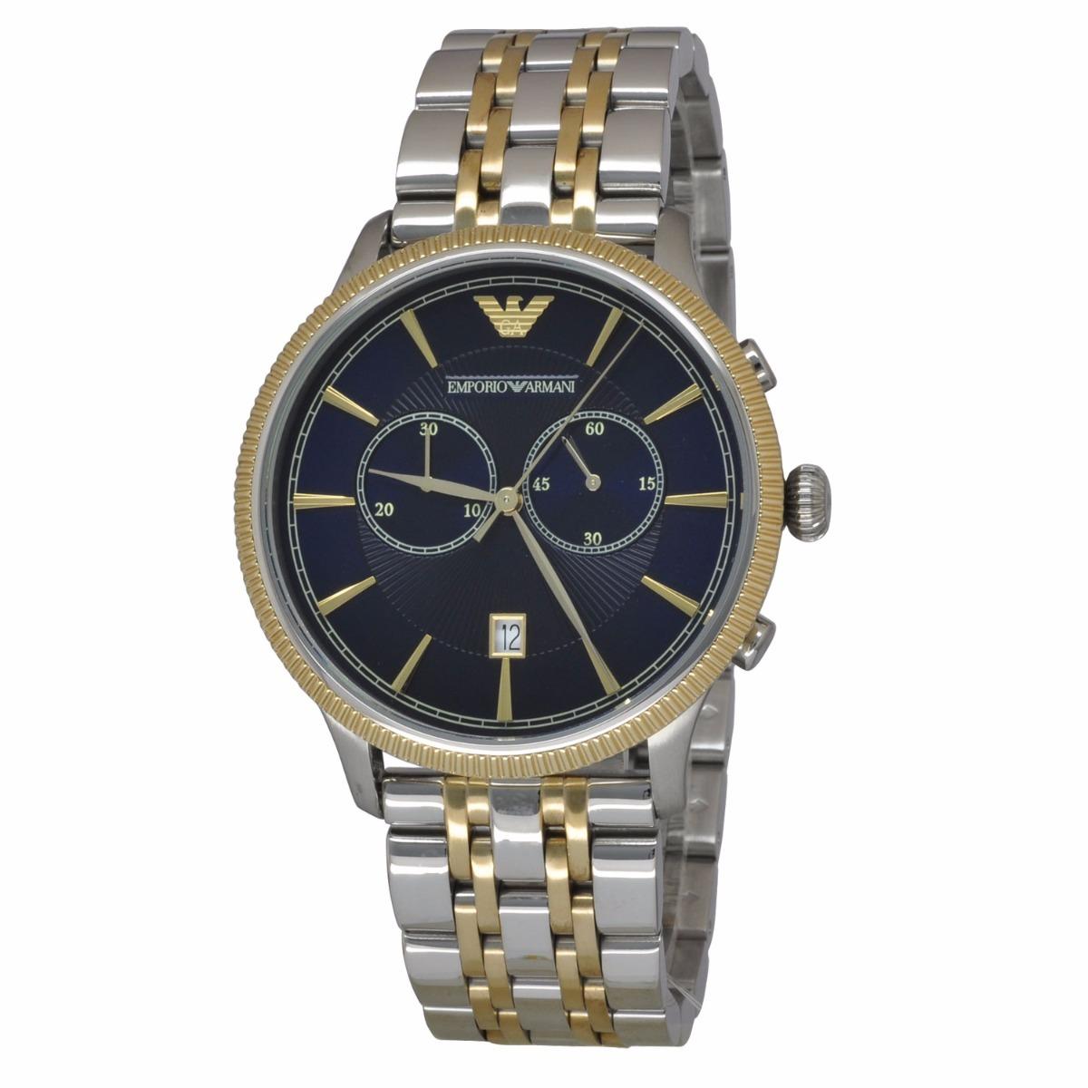 0178b194e792c relógio emporio armani ar1847 alpha prata dourado c  caixa. Carregando zoom.