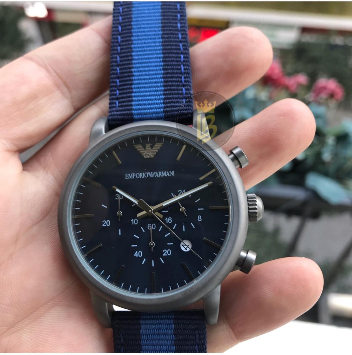 9f6567df71130 Relógio Empório Armani Ar1949 Azul