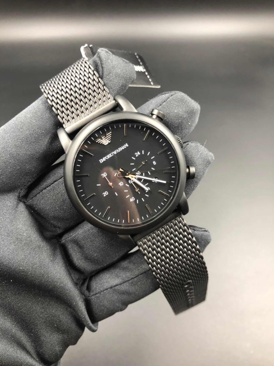 013adbb1717e2 Relógio Empório Armani Ar1968 Black - R  669,00 em Mercado Livre
