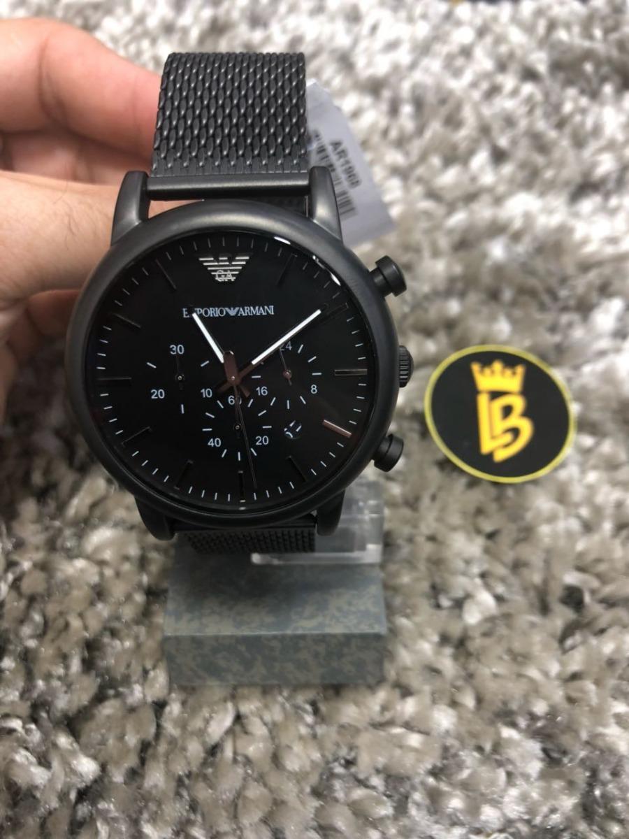 ed6e28c4b6f Relógio Empório Armani Ar1968 Black