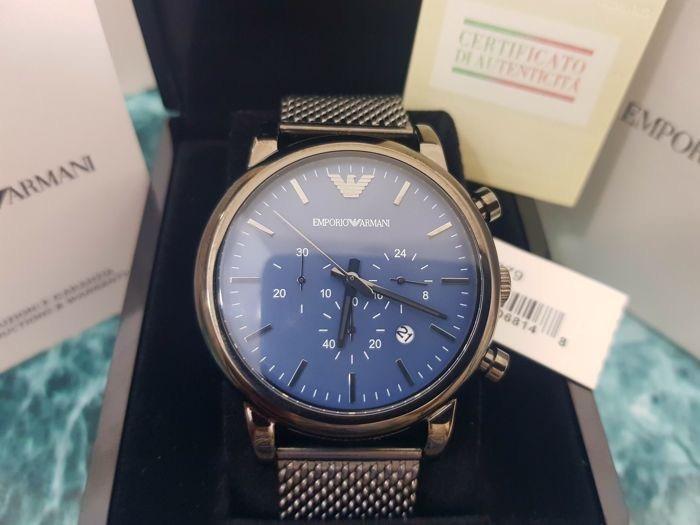 f93d0b49d9088 Relógio Empório Armani Ar1979 Azul Blue Dial Malha Original - R  969 ...