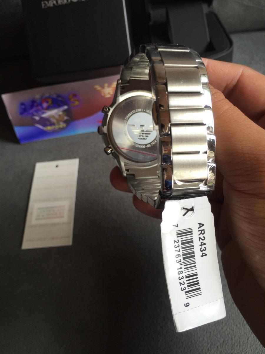 676a25e683f relógio emporio armani ar2434 aço com preto pronta entrega. Carregando zoom.