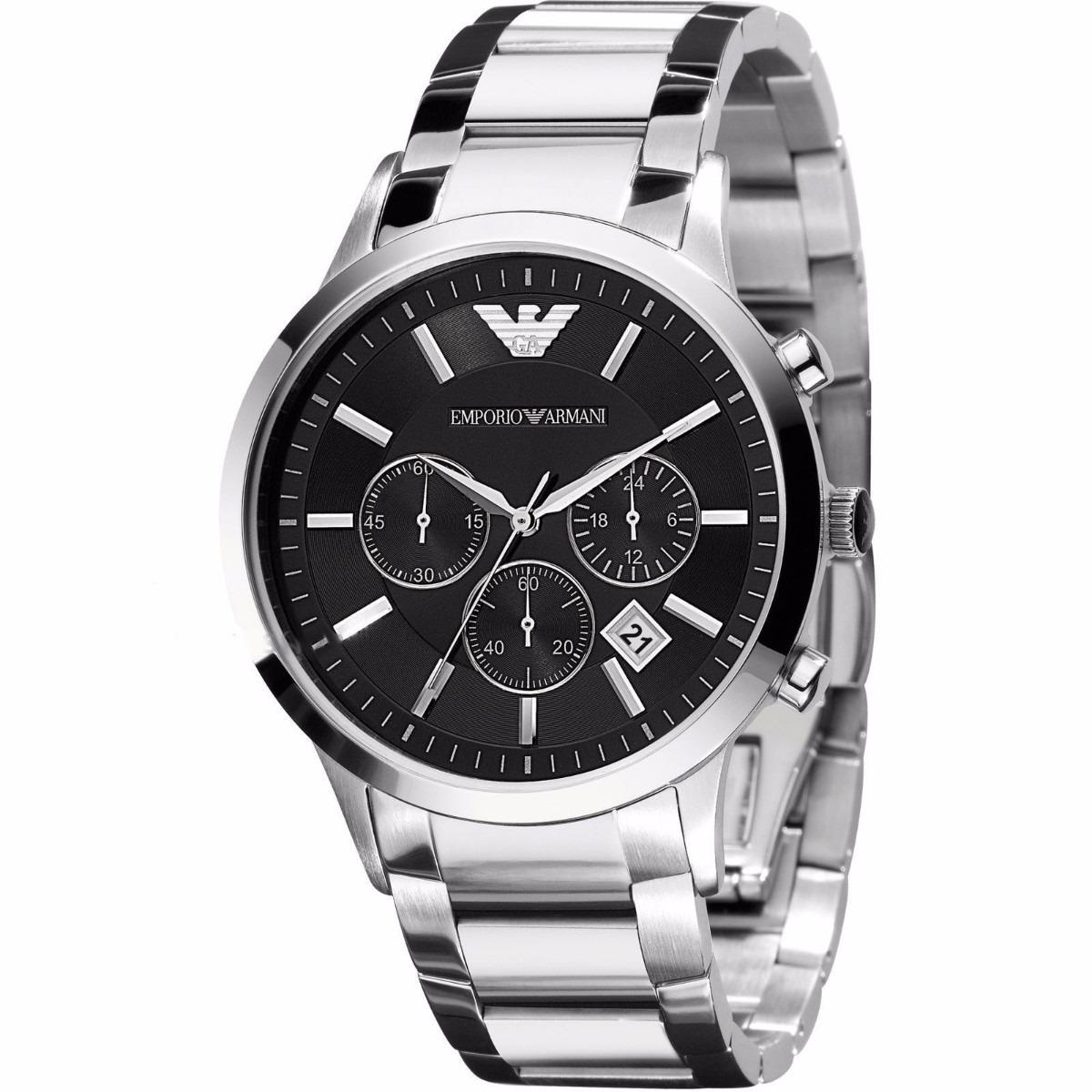 76f7ac0b795 relógio emporio armani ar2434 prata caixa original garantia. Carregando zoom .