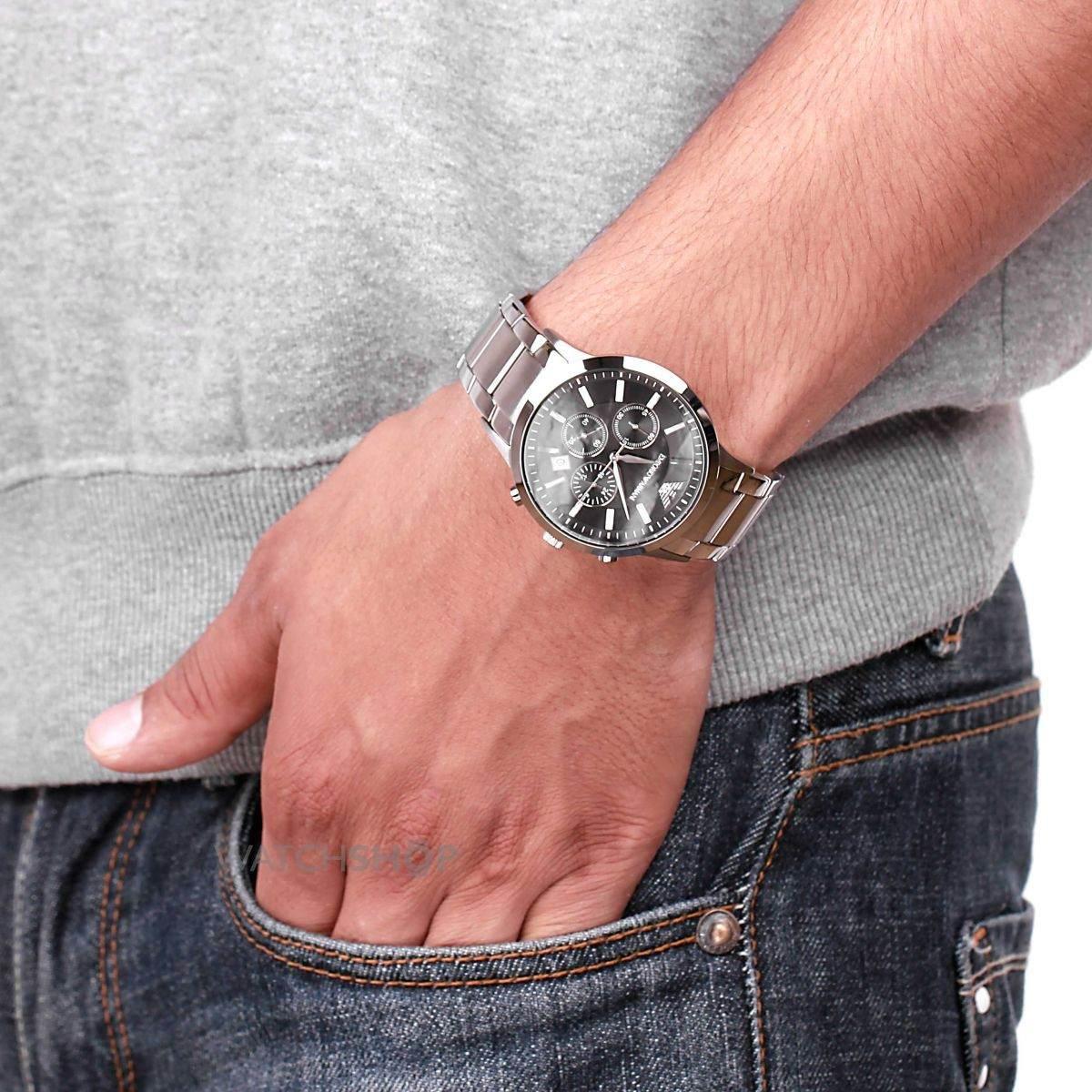 deaee067c1b relógio emporio armani ar2434 preto original completo. Carregando zoom.
